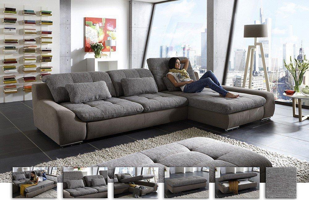Eckcouch Spike in Grau von Megapol | Möbel Letz - Ihr Online-Shop