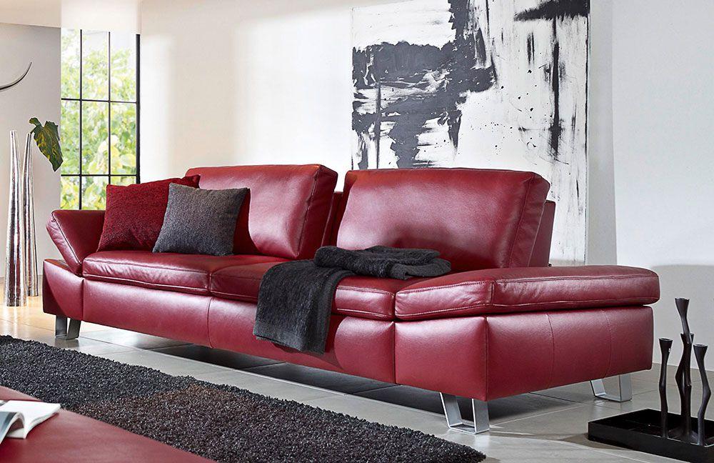 k w dive 7474 ledersofa rot m bel letz ihr online shop. Black Bedroom Furniture Sets. Home Design Ideas