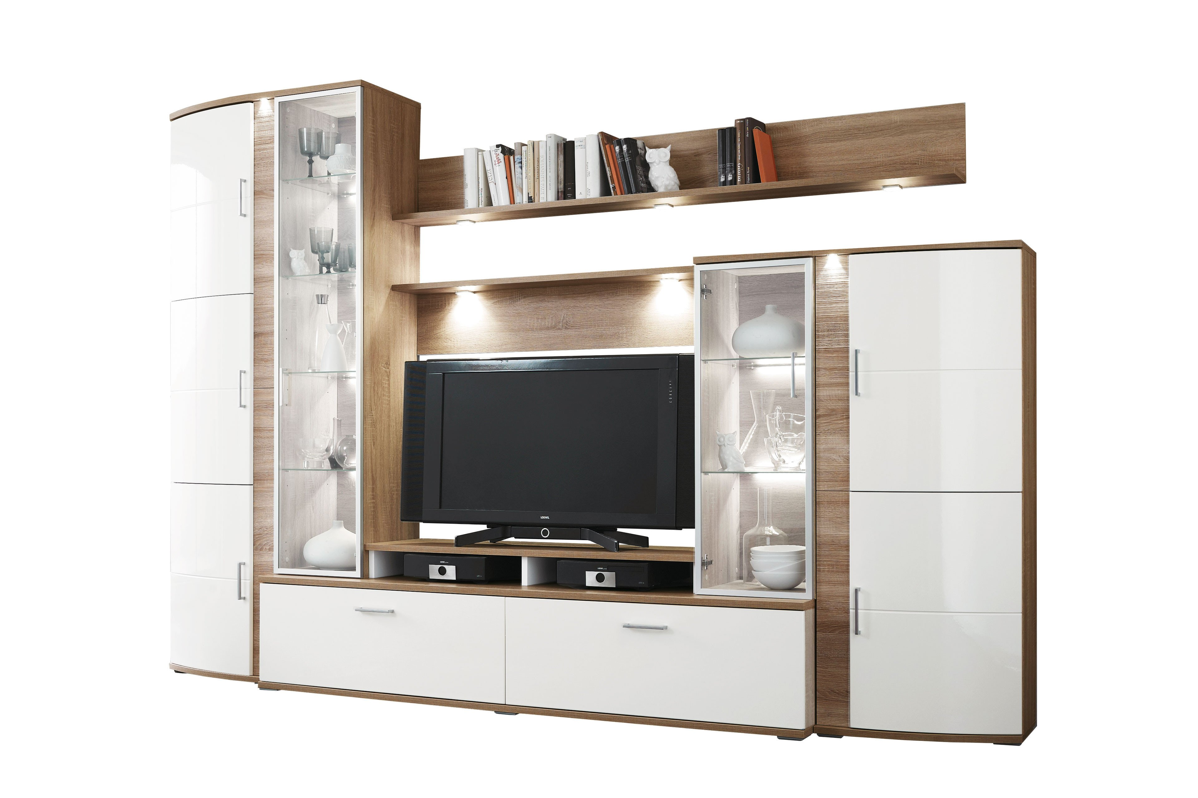 Teno Von IDEAL Möbel   Wohnwand 100 Eiche/ Vanille
