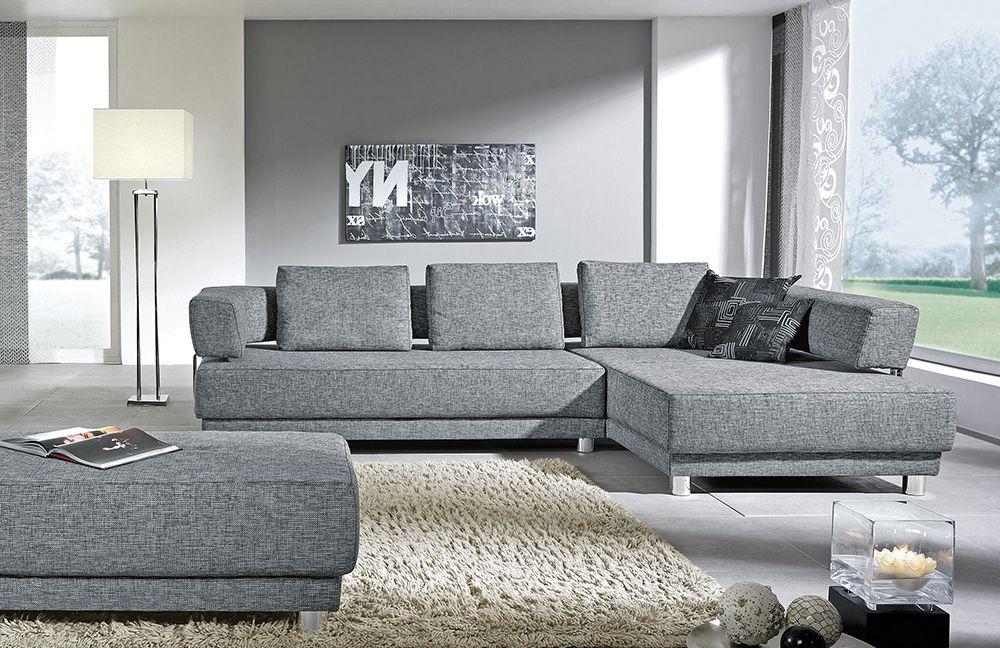 Ecksofa grau  K+W Polstermöbel Joy Eckcouch grau | Möbel Letz - Ihr Online-Shop