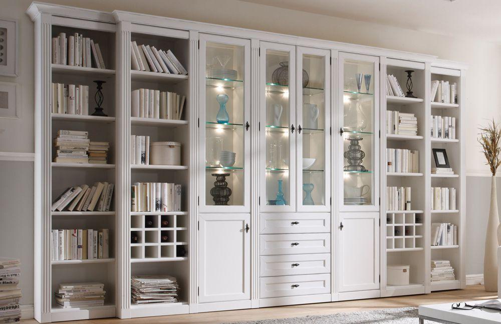 wehrsdorfer wohnwand maison ph 600 vintage wei m bel letz ihr online shop. Black Bedroom Furniture Sets. Home Design Ideas