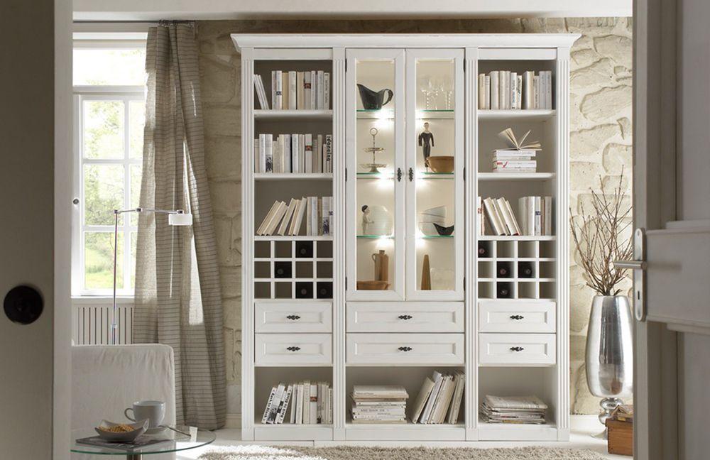 Vintage möbel weiss  Wehrsdorfer Wohnwand Maison V 602 Vintage weiß | Möbel Letz - Ihr ...
