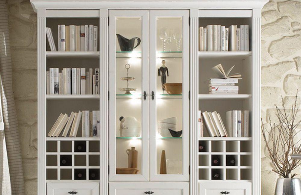 wehrsdorfer wohnwand maison v 602 vintage wei m bel. Black Bedroom Furniture Sets. Home Design Ideas