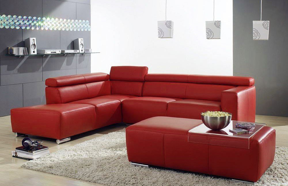841 roma von ultsch ledersofa rot polsterm bel g nstig. Black Bedroom Furniture Sets. Home Design Ideas