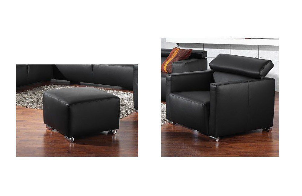 841 roma von ultsch ledersofa schwarz polsterm bel g nstig online kaufen sofa couch. Black Bedroom Furniture Sets. Home Design Ideas