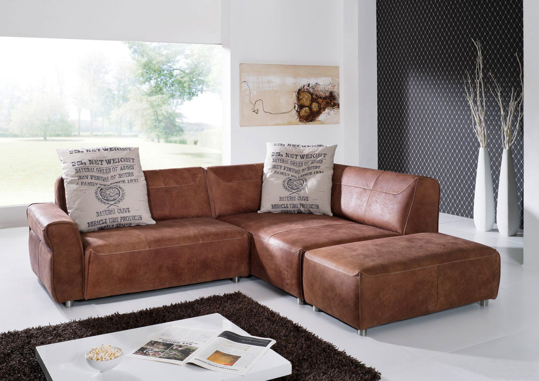 ultsch loft 552 ecksofa mocca m bel letz ihr online shop. Black Bedroom Furniture Sets. Home Design Ideas