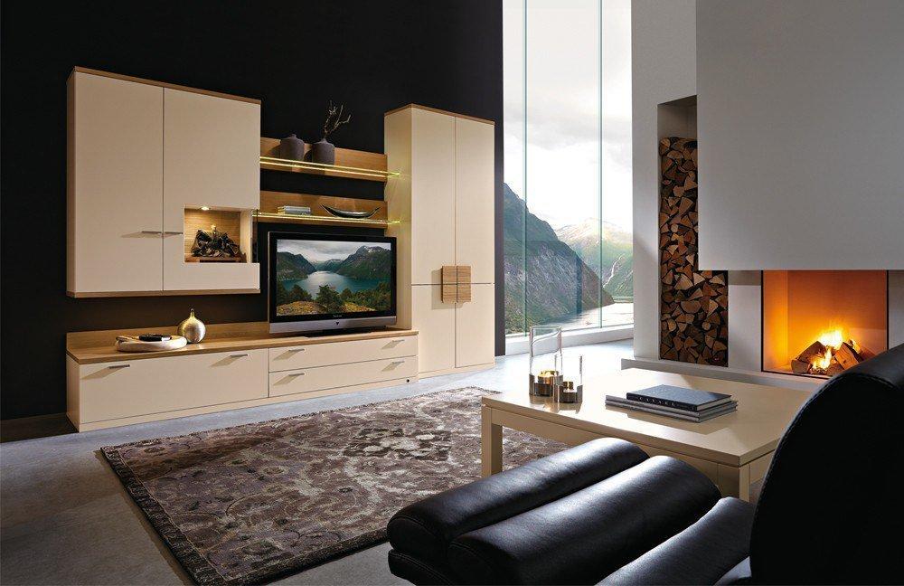 Möbel Eiche Sand ~ Wohnwand Lodano 36006 Crema Eiche von Rietberger Möbelwerke  Möbel