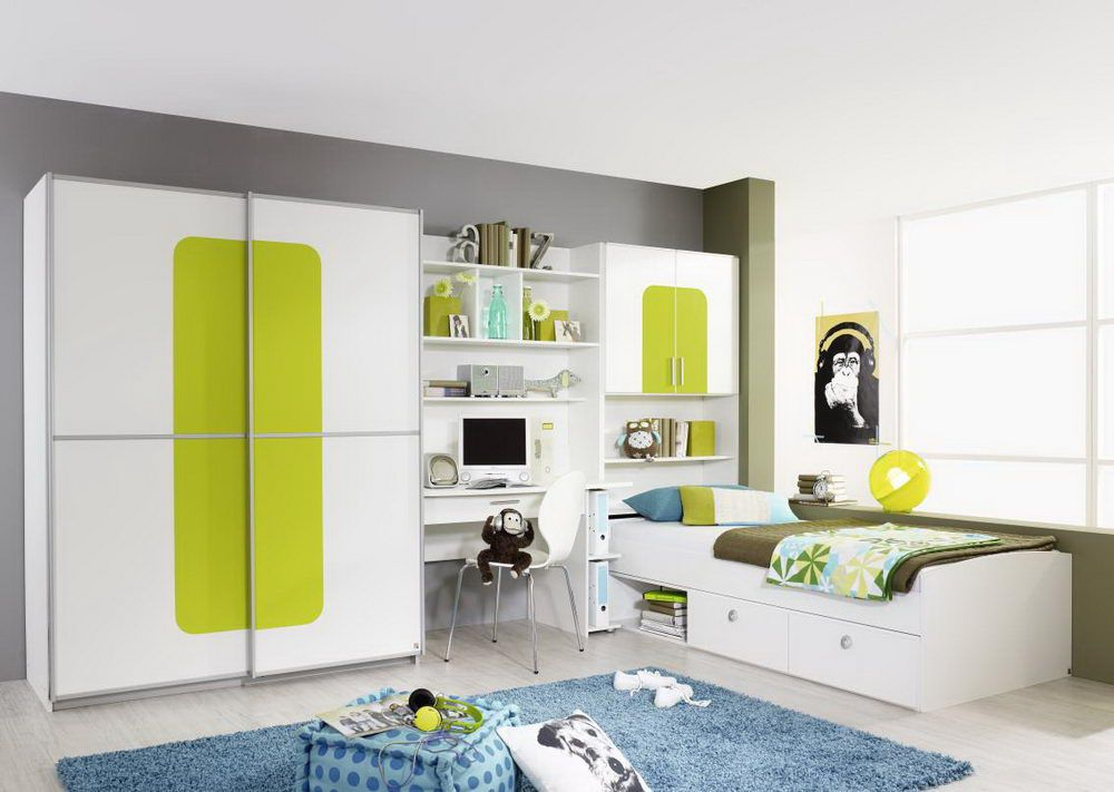 jugendzimmer utah von rauch dialog in wei gr n m bel letz ihr online shop. Black Bedroom Furniture Sets. Home Design Ideas