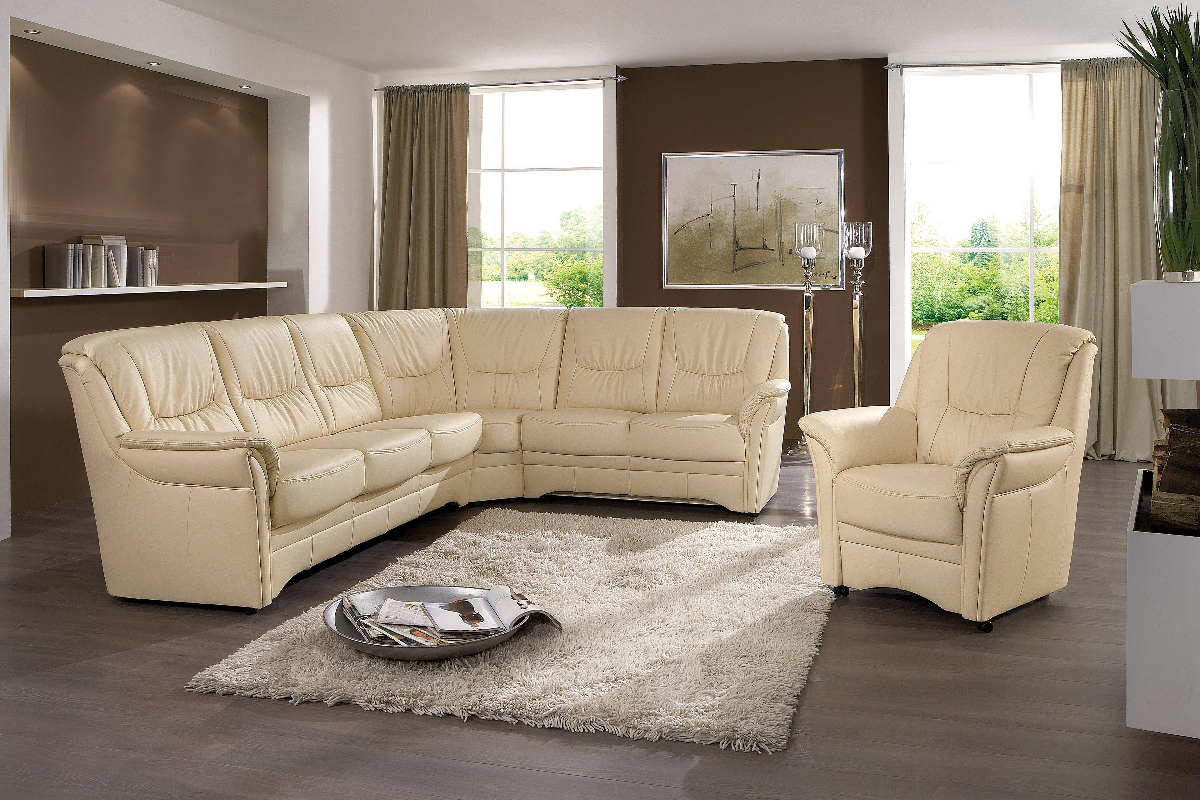 Dietsch System 2 Ledersofa in beige | Möbel Letz - Ihr Online-Shop
