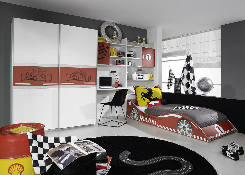 rauch racing kinderzimmer blau m bel letz ihr online shop. Black Bedroom Furniture Sets. Home Design Ideas