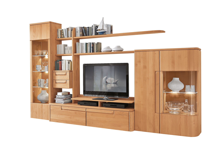 Wöstmann Wohnwand Cantana 3000/ Winn massive Erle | Möbel Letz ...
