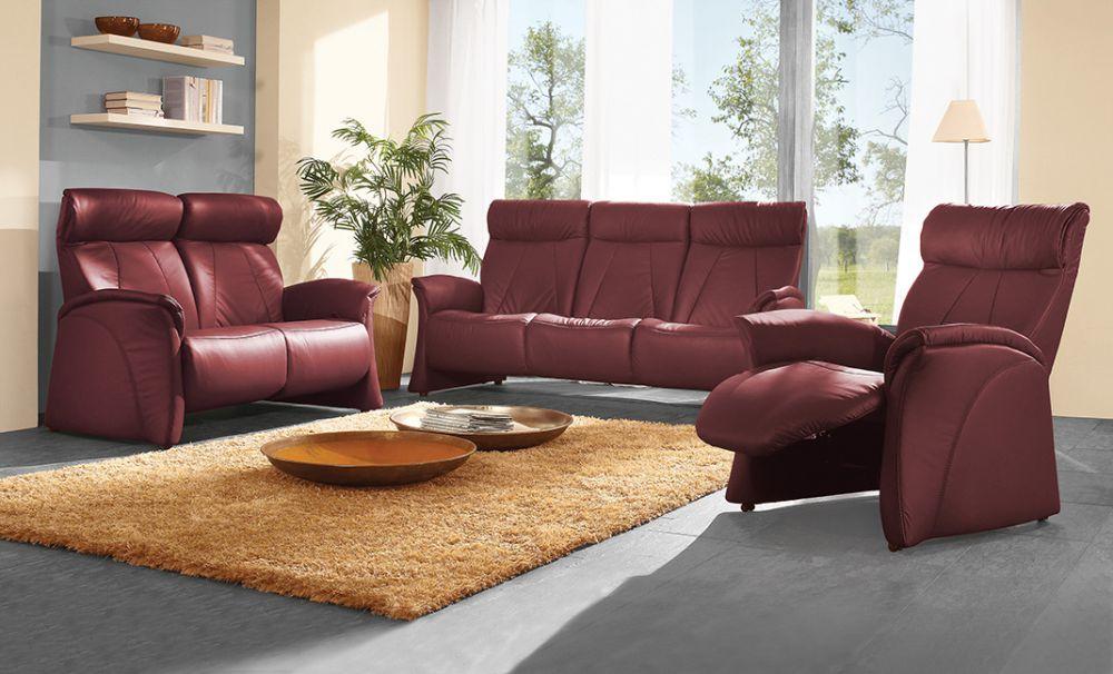 himolla ledersofa 4895 rot m bel letz ihr online shop. Black Bedroom Furniture Sets. Home Design Ideas