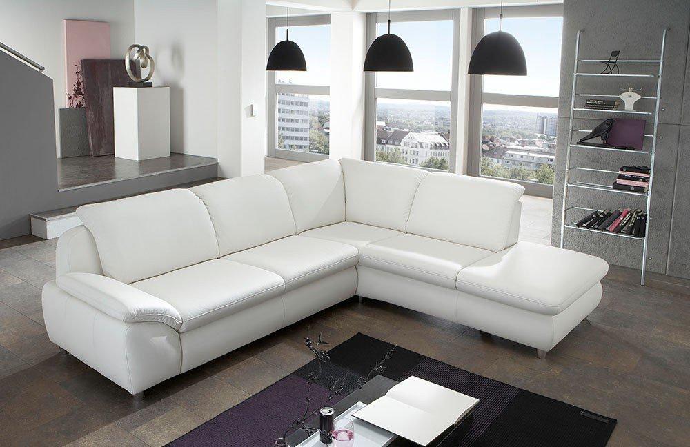 ledergarnitur leoni wei von polsteria polsterm bel. Black Bedroom Furniture Sets. Home Design Ideas