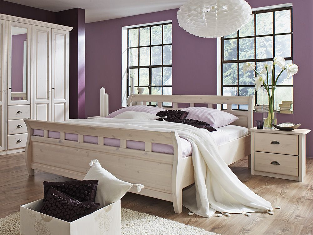 komplett schlafzimmer wei im landhausstil laars von lmie. Black Bedroom Furniture Sets. Home Design Ideas