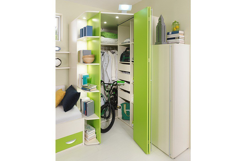 rudolf jugendzimmer fiftytwo und loop creme gr n m bel. Black Bedroom Furniture Sets. Home Design Ideas