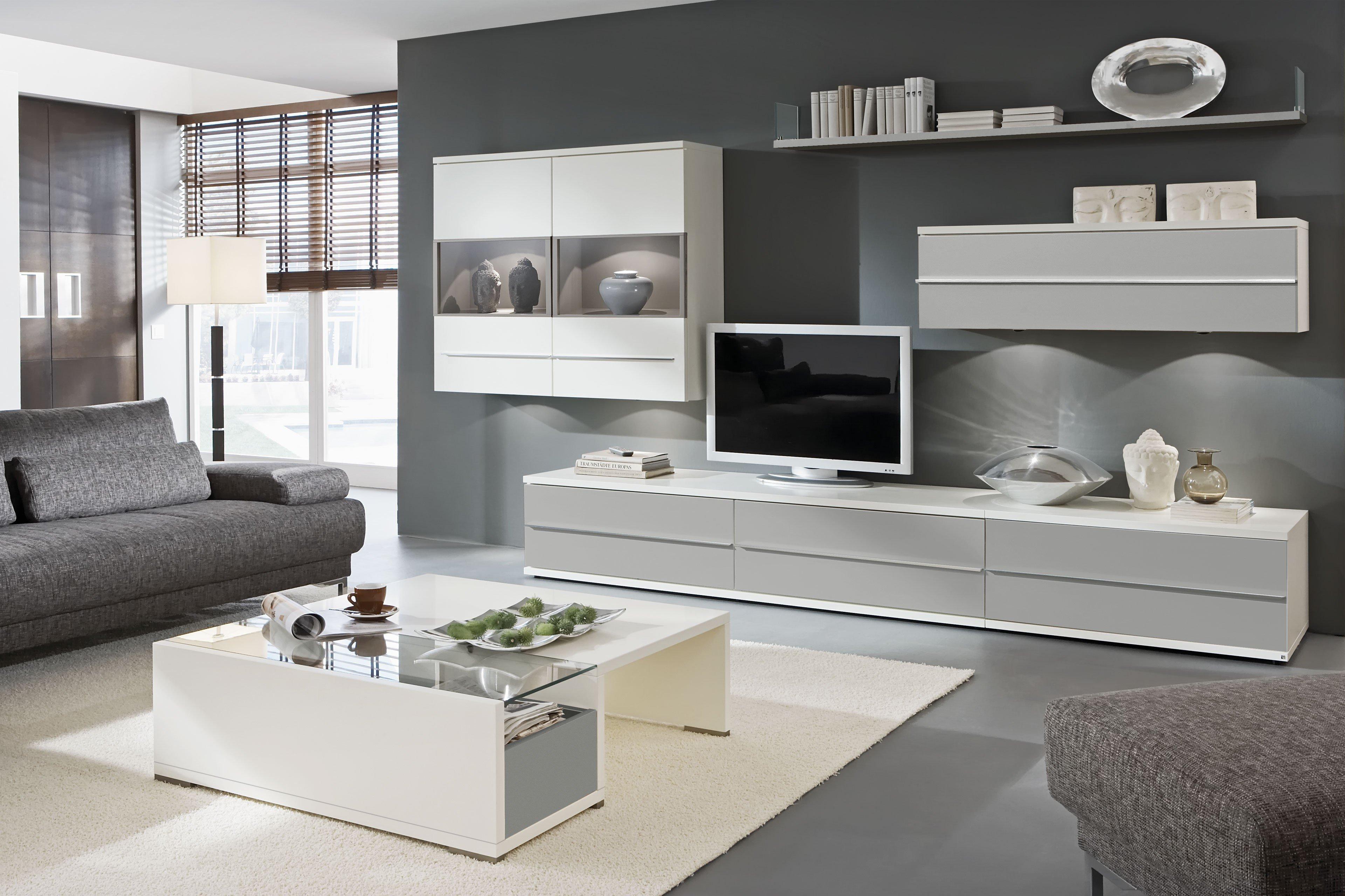 Wohnwand design grau  Loddenkemper Kito Wohnwand 9830 Soft Grau | Möbel Letz - Ihr ...