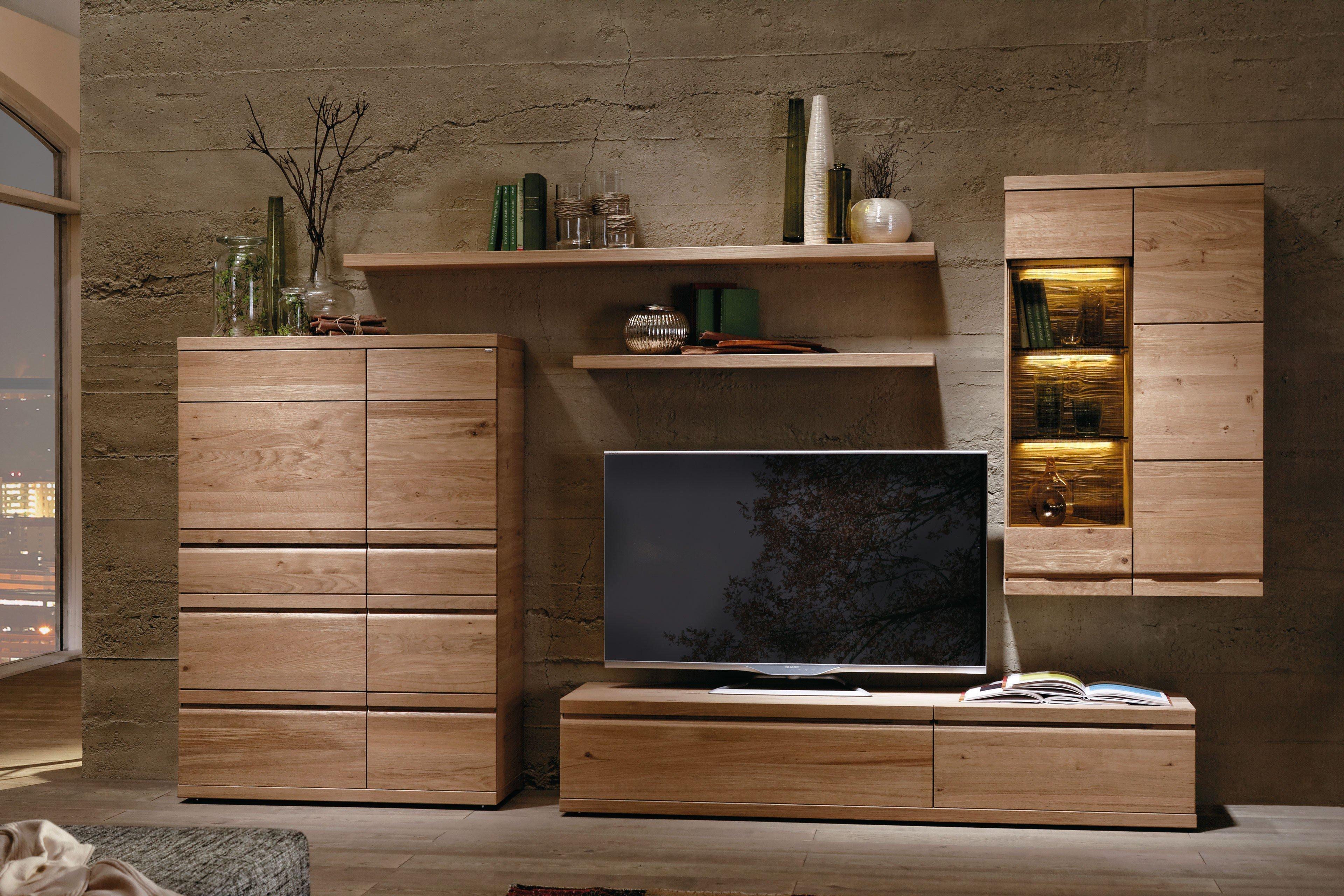 wohnwand v loft 130 ge lte wildeiche von voglauer m bel letz ihr online shop. Black Bedroom Furniture Sets. Home Design Ideas