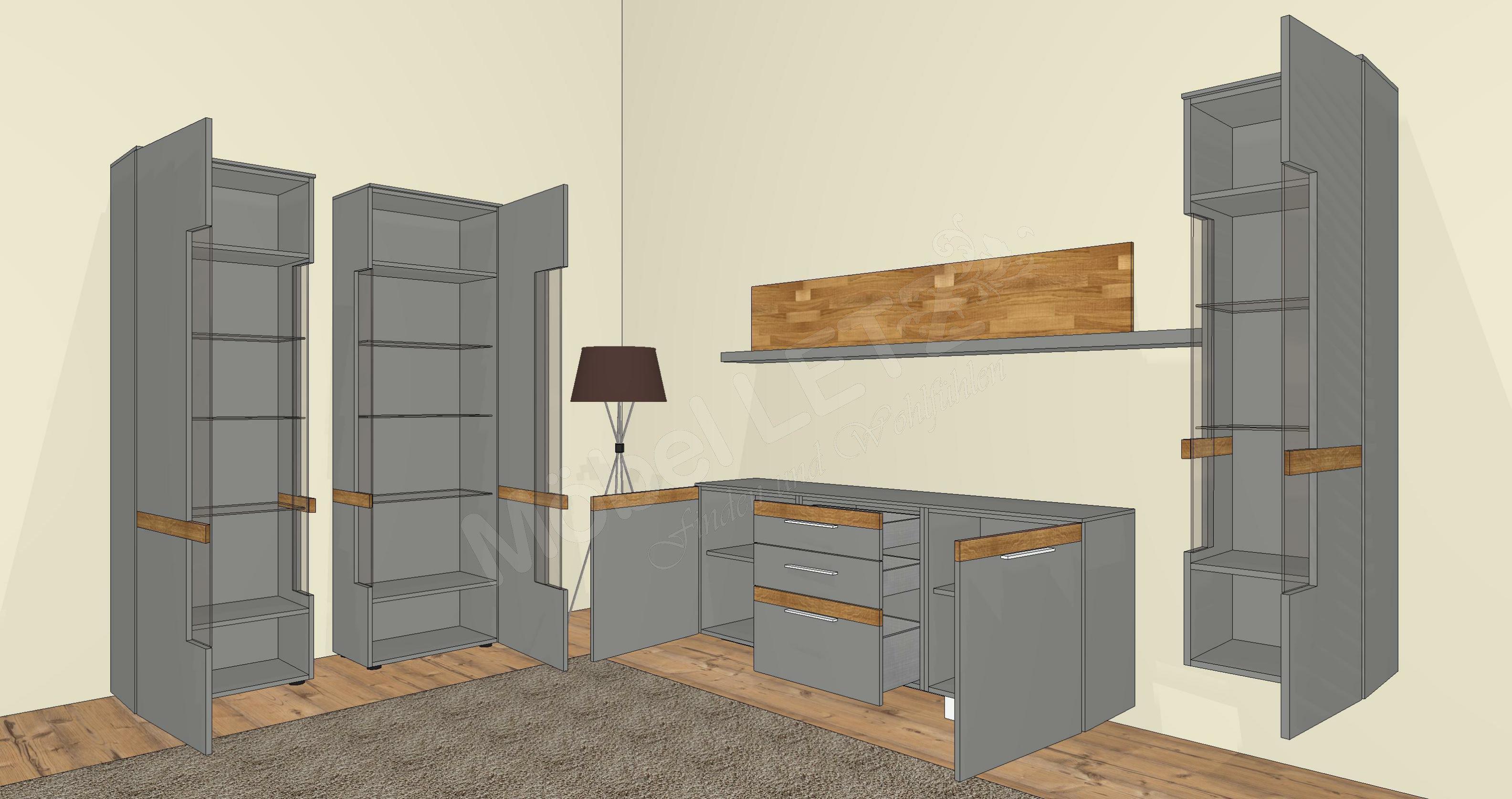 Wohnwand Gwinner Gebraucht : Wohnwand Gwinner Casale  Wohnwand von Gwinner Wohndesign ? Modell
