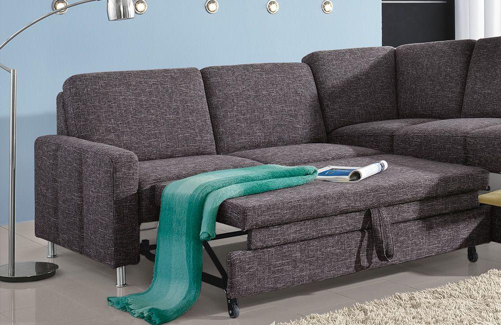 Pora Polstermöbel Monaco Sofa anthrazit | Möbel Letz - Ihr Online-Shop