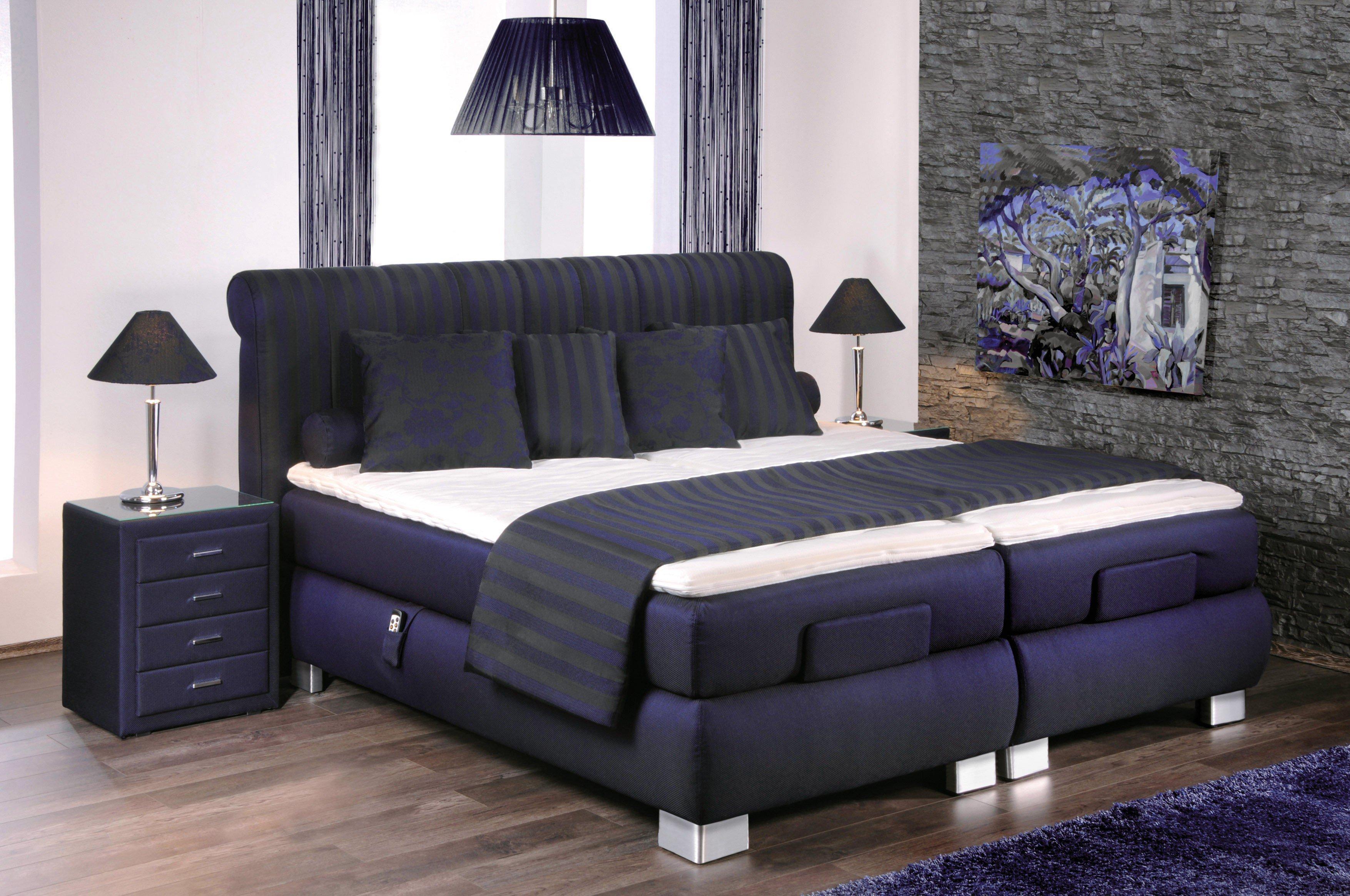 boxspringbett mit motor prestige von oschmann in blau m bel letz ihr online shop. Black Bedroom Furniture Sets. Home Design Ideas