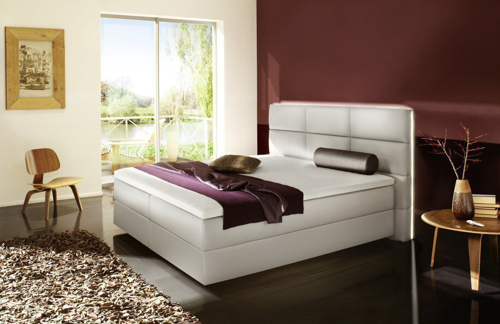 fey co boxspringbett kenth mit motor in hellgrau m bel letz ihr online shop. Black Bedroom Furniture Sets. Home Design Ideas