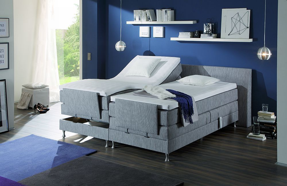 fey co kingsline boxspringbett in grau motorisch m bel letz ihr online shop. Black Bedroom Furniture Sets. Home Design Ideas