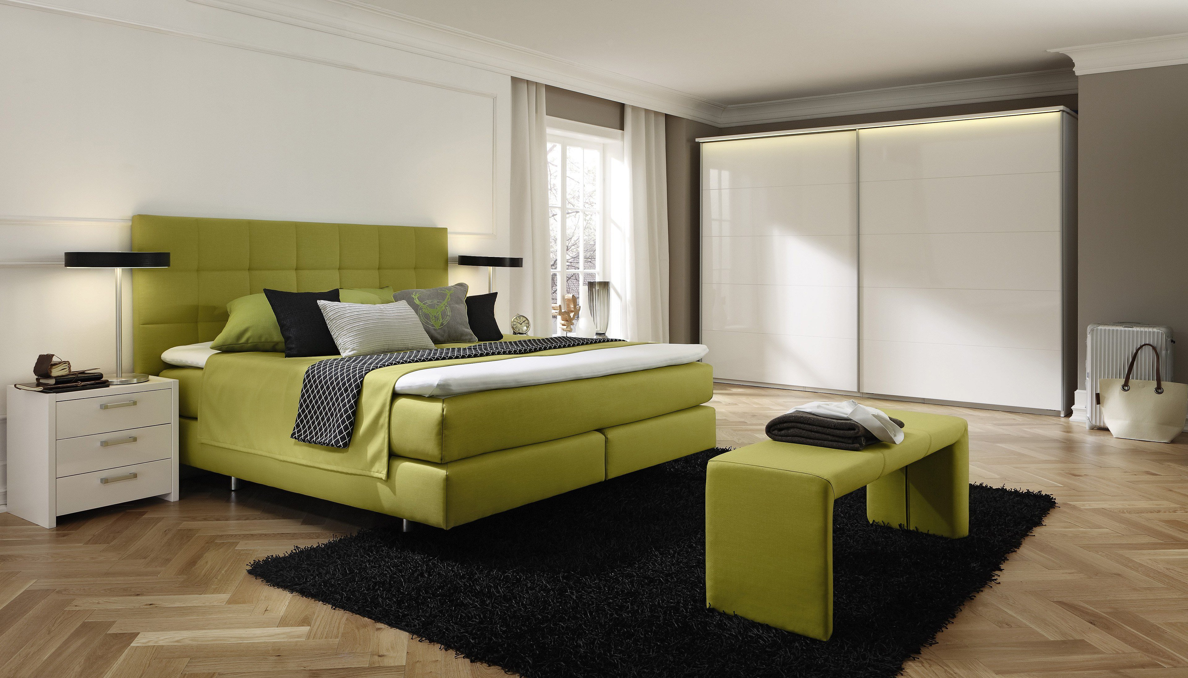 couture von femira boxspringbett gr n m bel letz ihr. Black Bedroom Furniture Sets. Home Design Ideas
