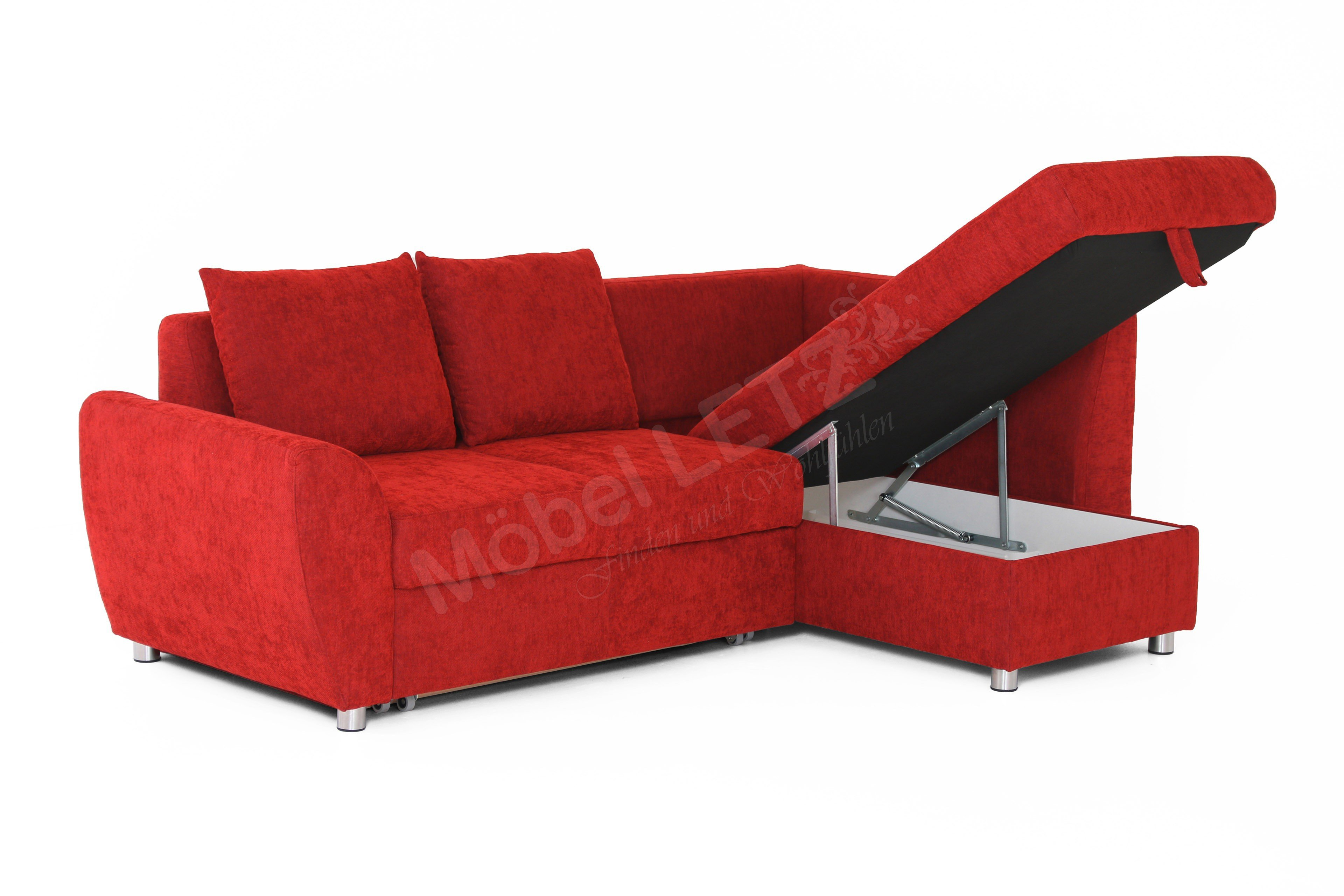 multiflexx von poco ecksofa rot polsterm bel g nstig. Black Bedroom Furniture Sets. Home Design Ideas