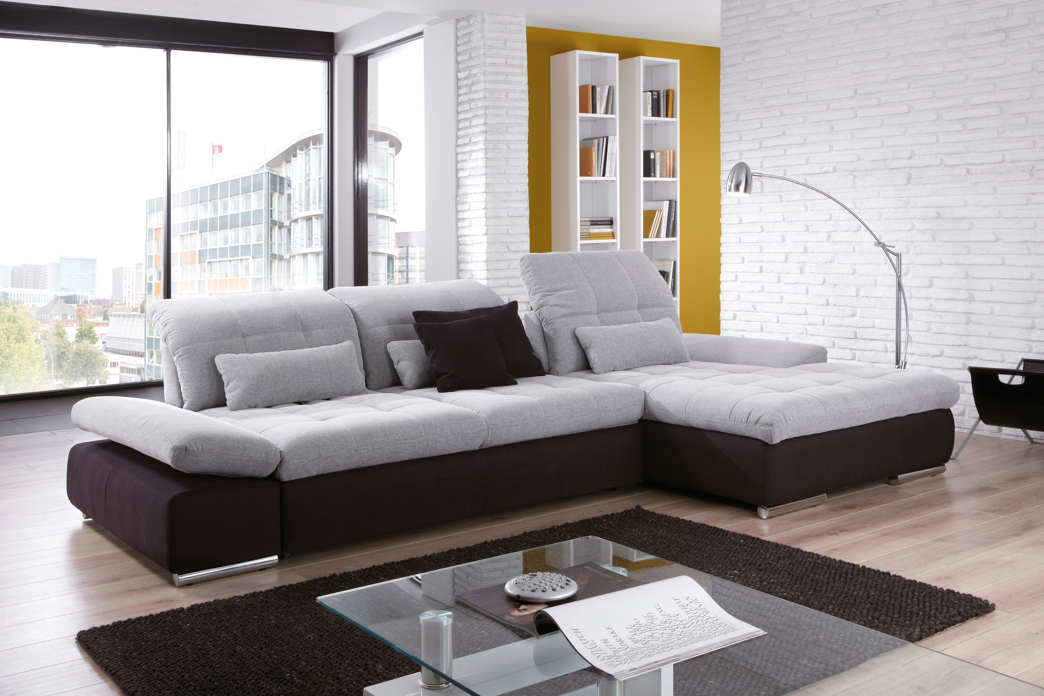 poco polsterm bel santa fe ecksofa in hellgrau schwarz m bel letz ihr online shop. Black Bedroom Furniture Sets. Home Design Ideas