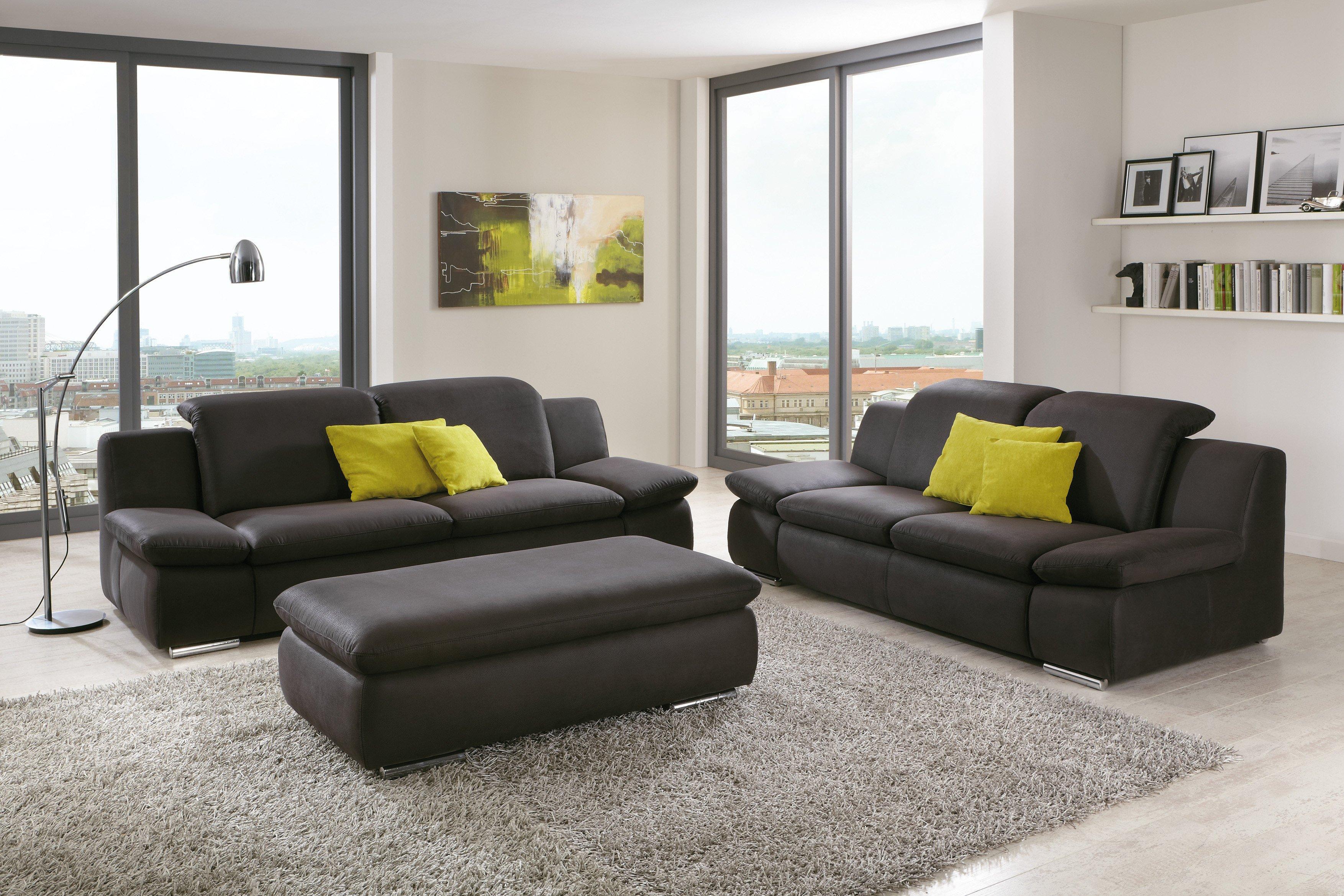 isona von poco polstergarnitur anthrazit polsterm bel. Black Bedroom Furniture Sets. Home Design Ideas
