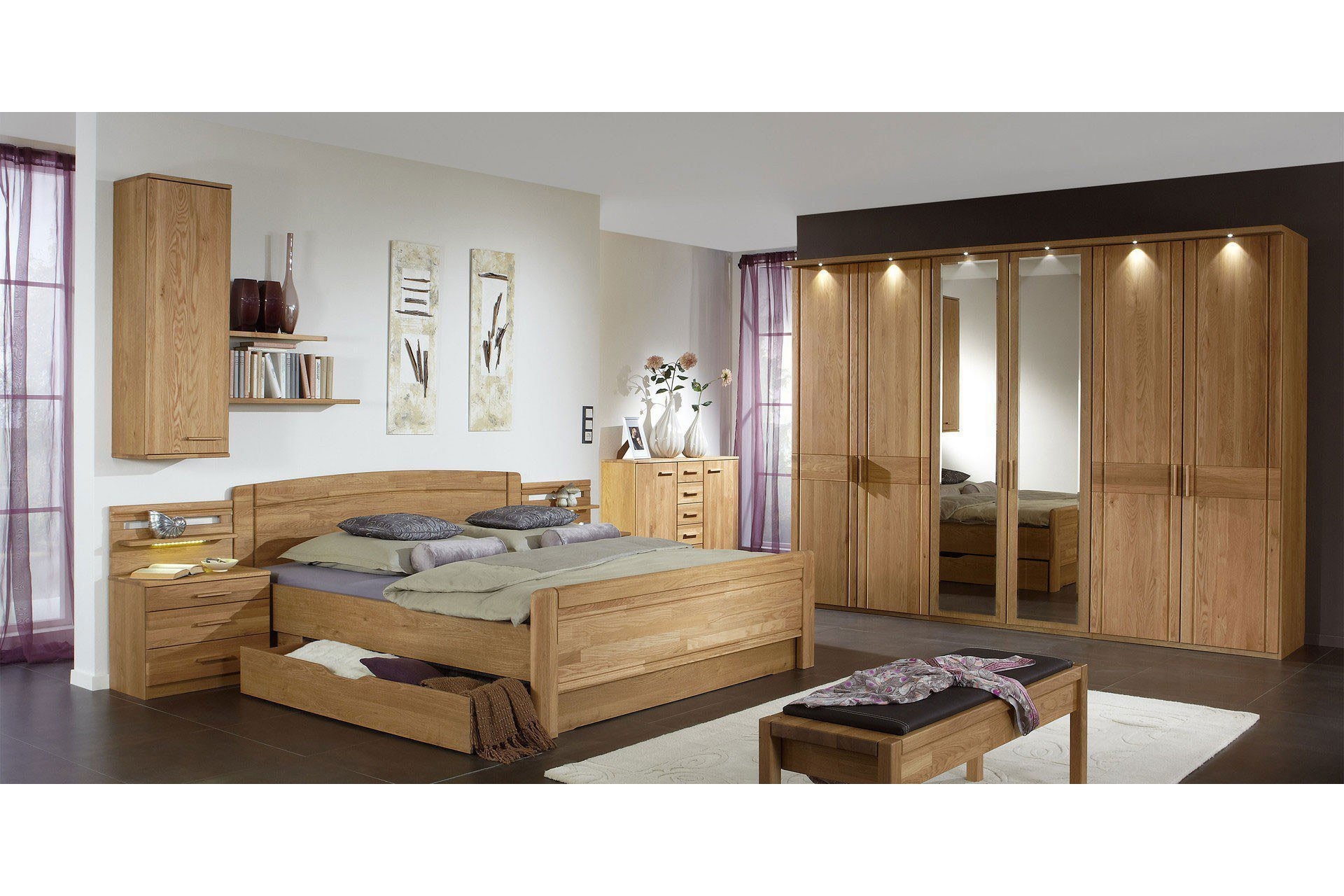 wiemann schlafzimmer m nster eiche teilmassiv m bel letz ihr online shop. Black Bedroom Furniture Sets. Home Design Ideas