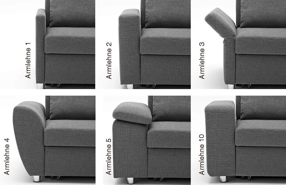 Poco Polstermöbel Multiflexx Sofa in Grau | Möbel Letz - Ihr ...