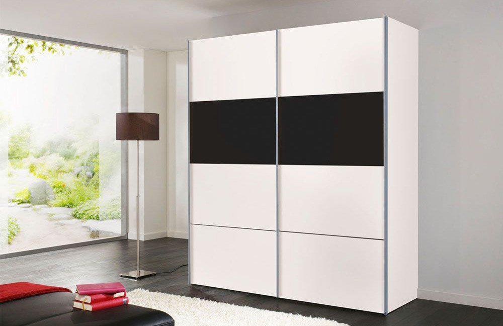 kleiderschrank wei schwarz shqiptoolbar. Black Bedroom Furniture Sets. Home Design Ideas