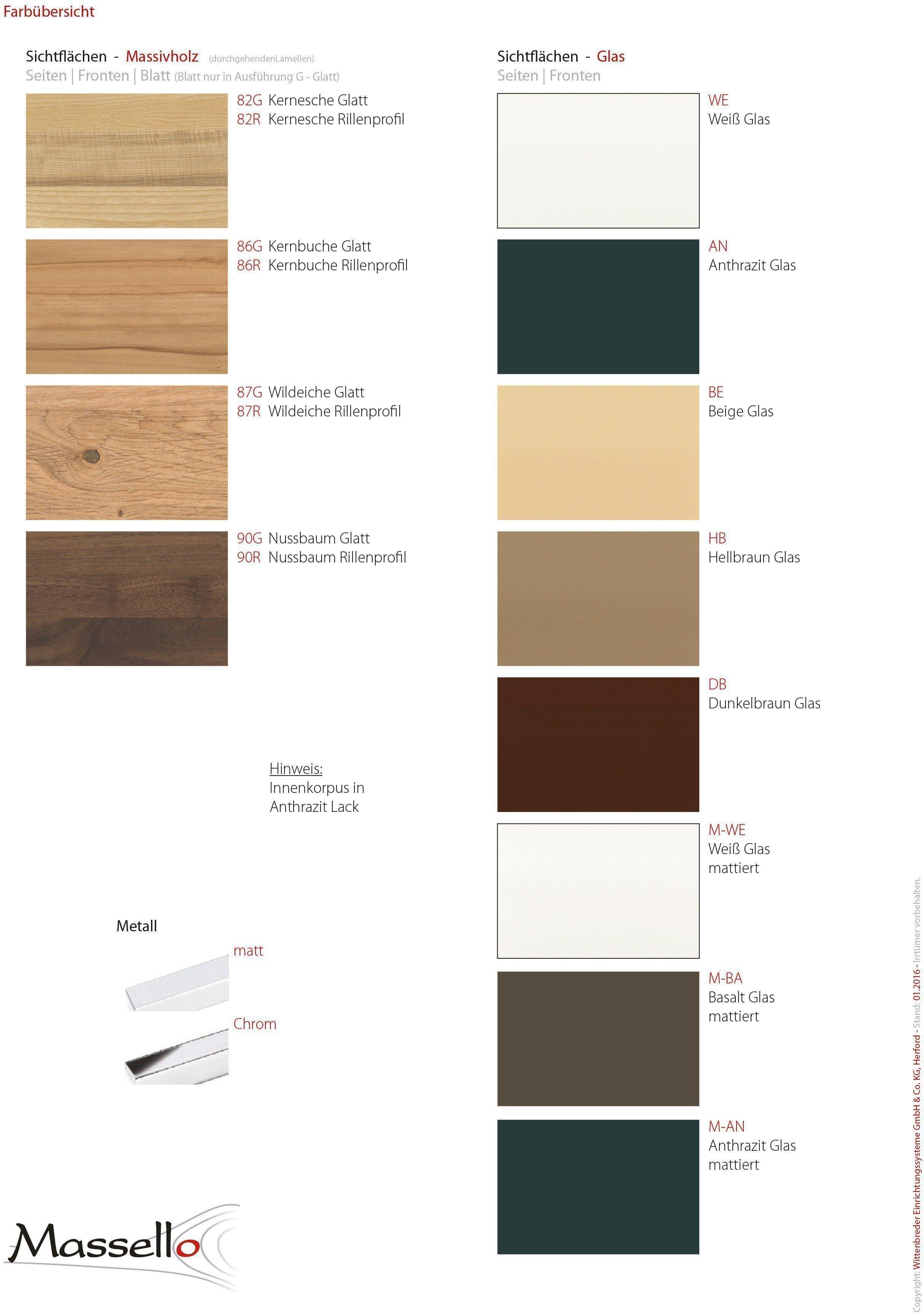 wittenbreder garderobe massello nussbaum wei m bel. Black Bedroom Furniture Sets. Home Design Ideas