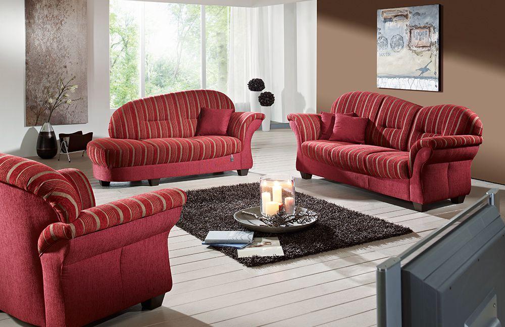 Ponsel Bern Polstergruppe rot | Möbel Letz - Ihr Online-Shop