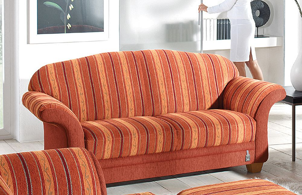 ponsel wallis polstergruppe rot gestreift m bel letz. Black Bedroom Furniture Sets. Home Design Ideas