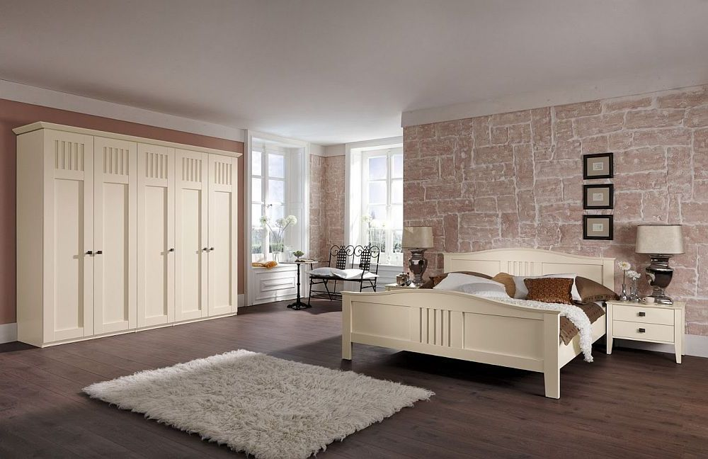 schmales schlafzimmer creme wei tier bilder deko