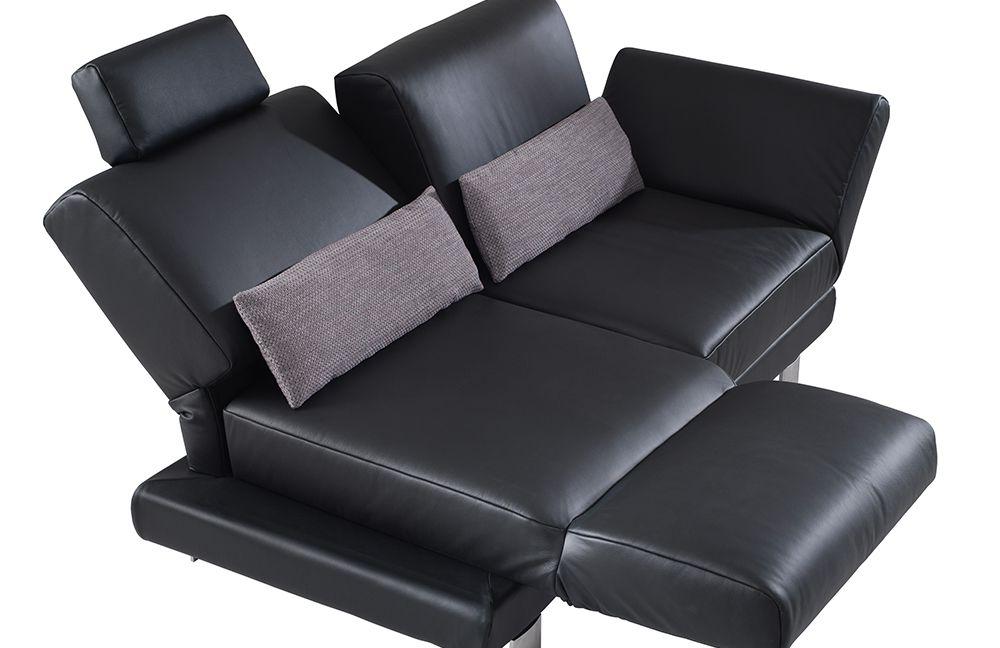 sofa leder schwarz swing von ponsel polsterm bel m bel letz ihr online shop. Black Bedroom Furniture Sets. Home Design Ideas