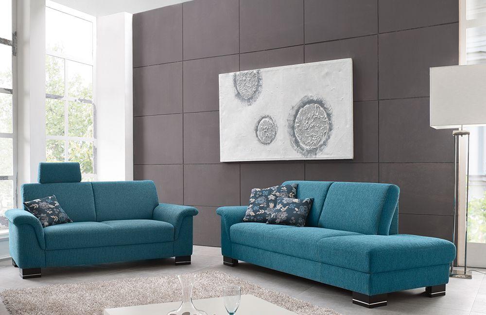 Ponsel West Sofagruppe türkis | Möbel Letz - Ihr Online-Shop
