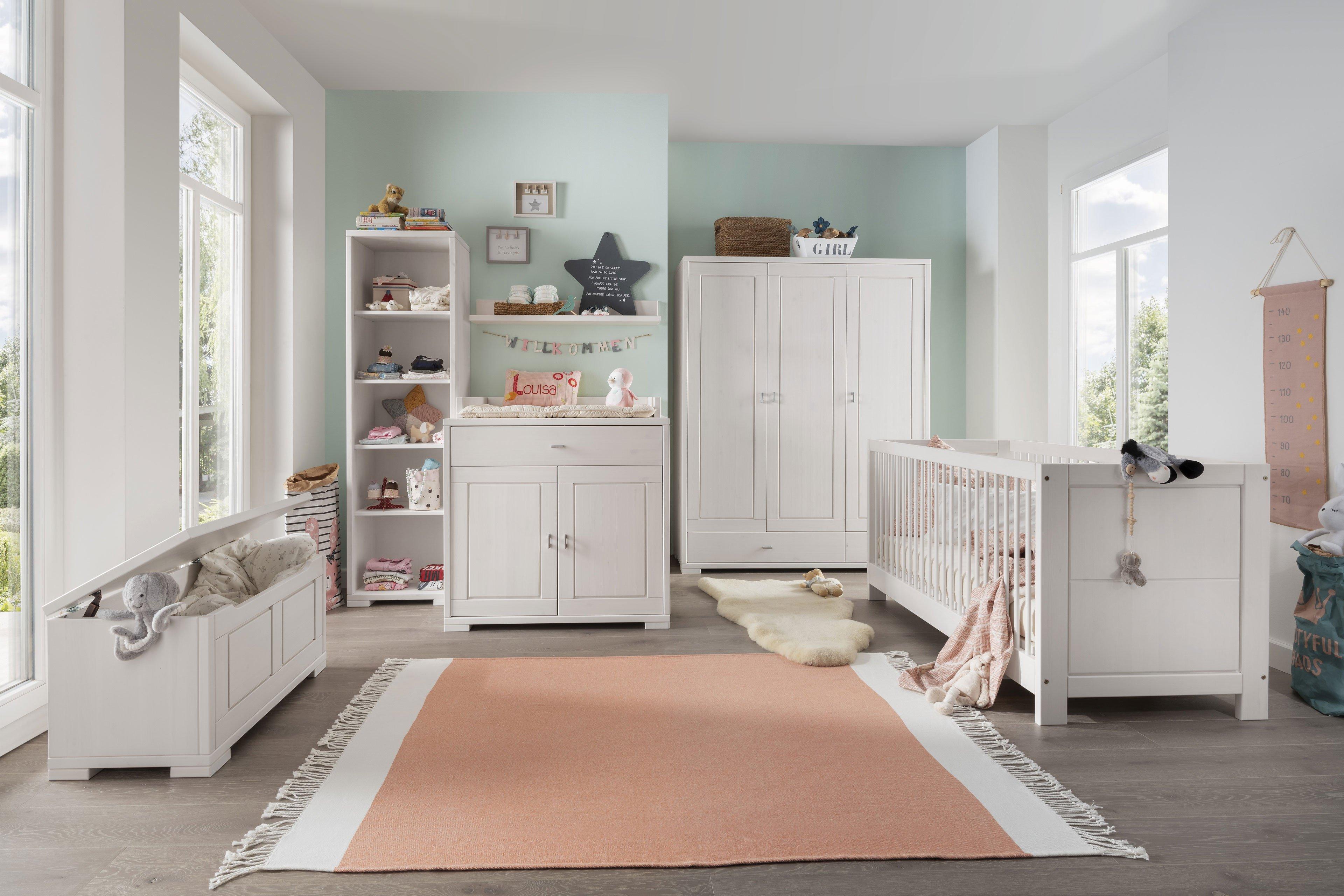 Luwo massivholz babyzimmer guldborg kiefer wei m bel for Babyzimmer shop