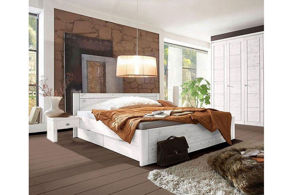 Schlafzimmer Kiefer Massiv Weis Gebeizt : Schlafzimmer Rauna von Pinus GB in Kiefer massiv gebeizt - geölt ...