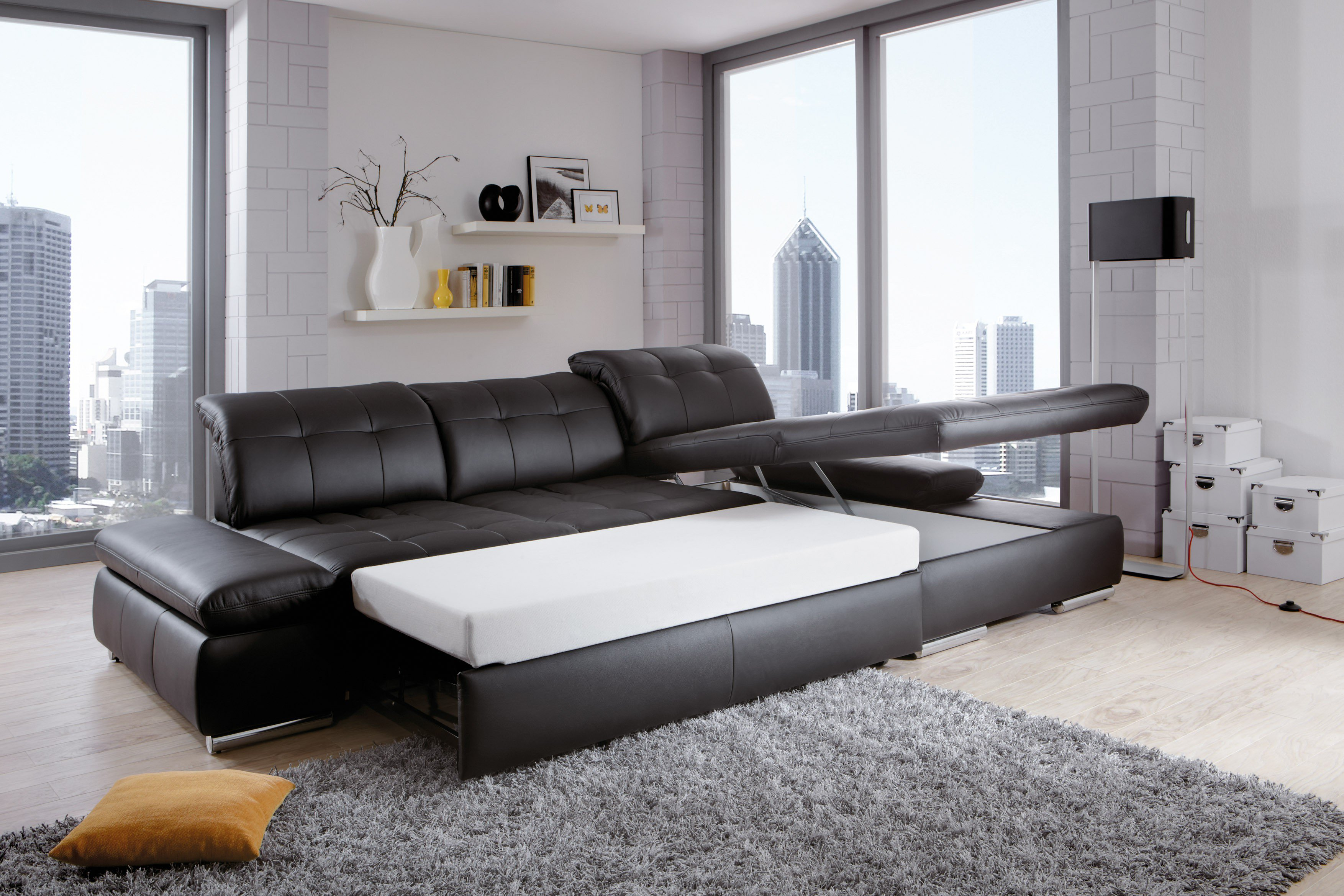 ecksofa santa fe von poco in schwarz m bel letz ihr online shop. Black Bedroom Furniture Sets. Home Design Ideas