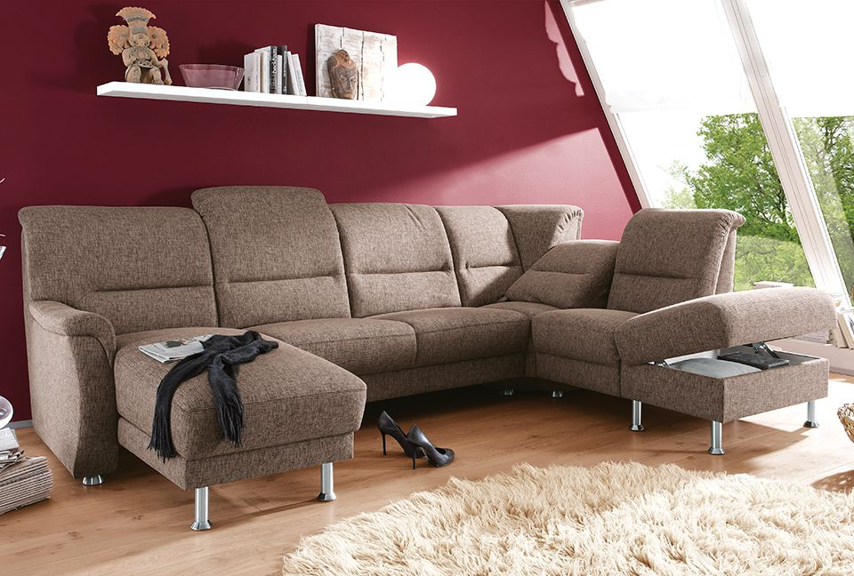 gruber polsterm bel corvette wohnlandschaft braun m bel. Black Bedroom Furniture Sets. Home Design Ideas