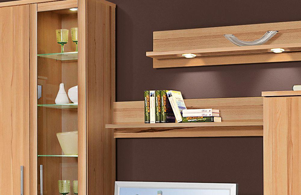 wohnwand wiek eb205 kernbuche von stralsunder m bel letz ihr online shop. Black Bedroom Furniture Sets. Home Design Ideas