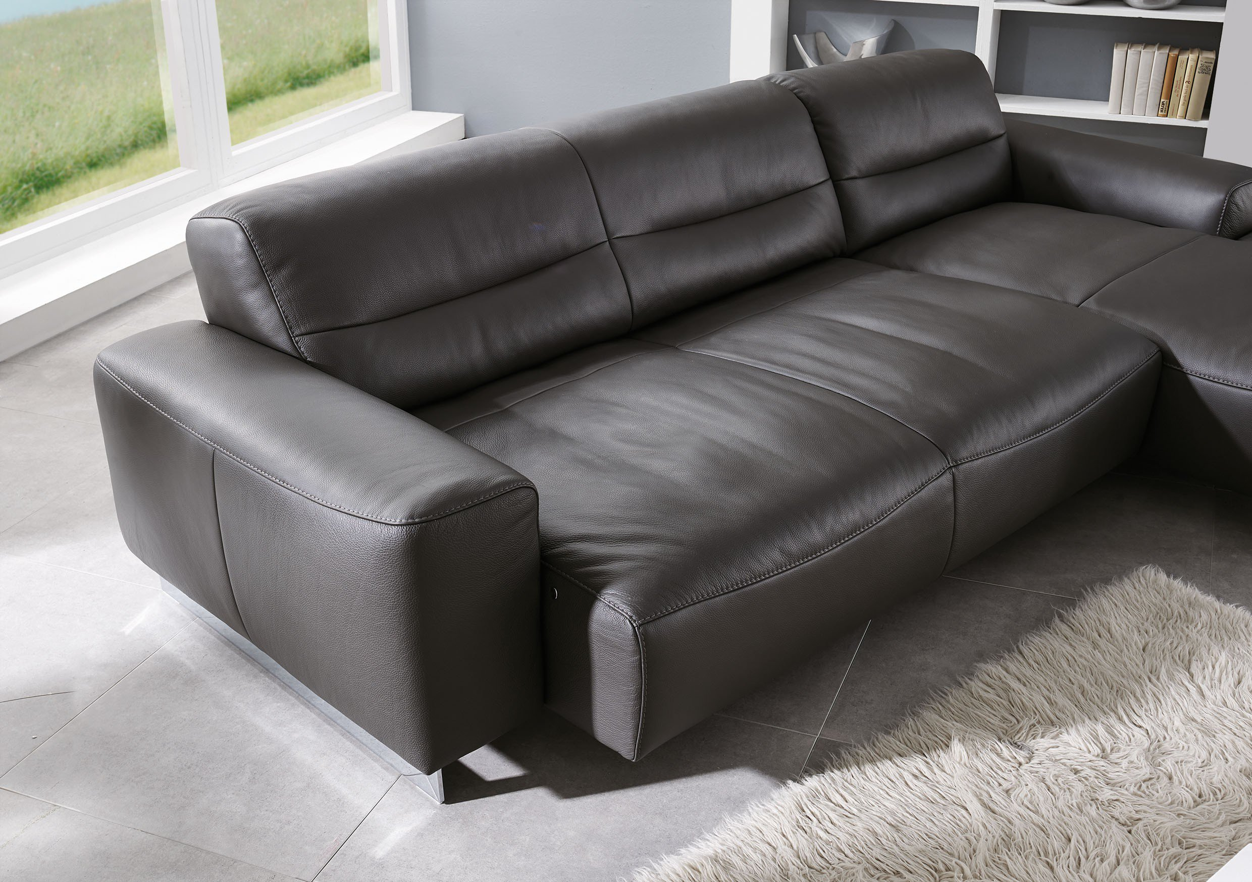 Willi Schillig 20560 William Ledersofa Graphite