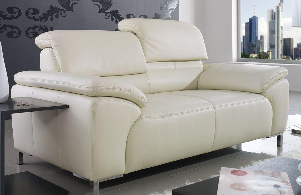 ponsel milano ledercouch wei m bel letz ihr online shop. Black Bedroom Furniture Sets. Home Design Ideas