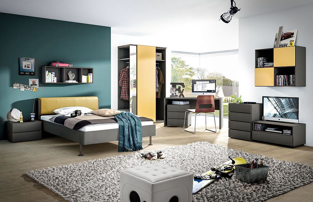 jugendzimmer ultra 4 young living von r hr bush in grau. Black Bedroom Furniture Sets. Home Design Ideas