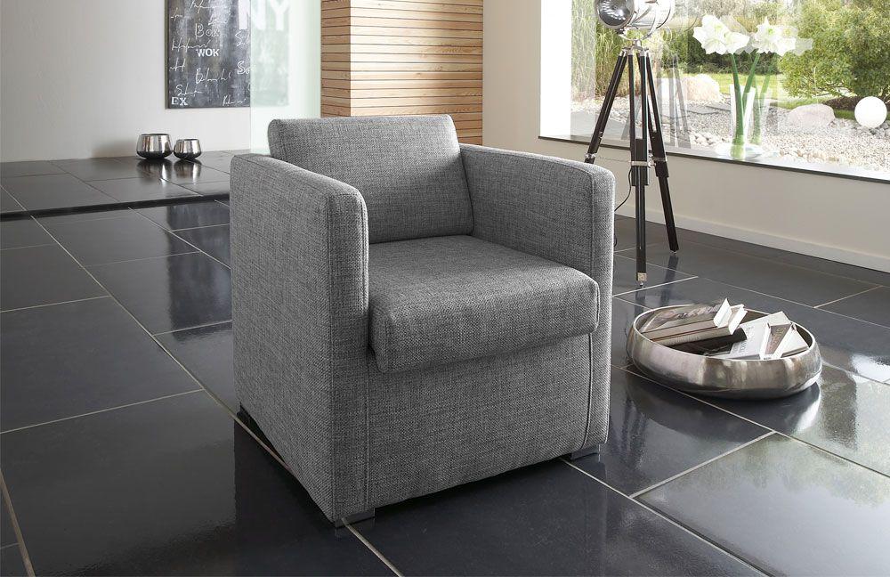 sessel grau modern m belideen. Black Bedroom Furniture Sets. Home Design Ideas