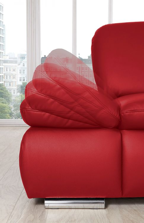 ledersofa laventura in rot von poco m bel letz ihr. Black Bedroom Furniture Sets. Home Design Ideas