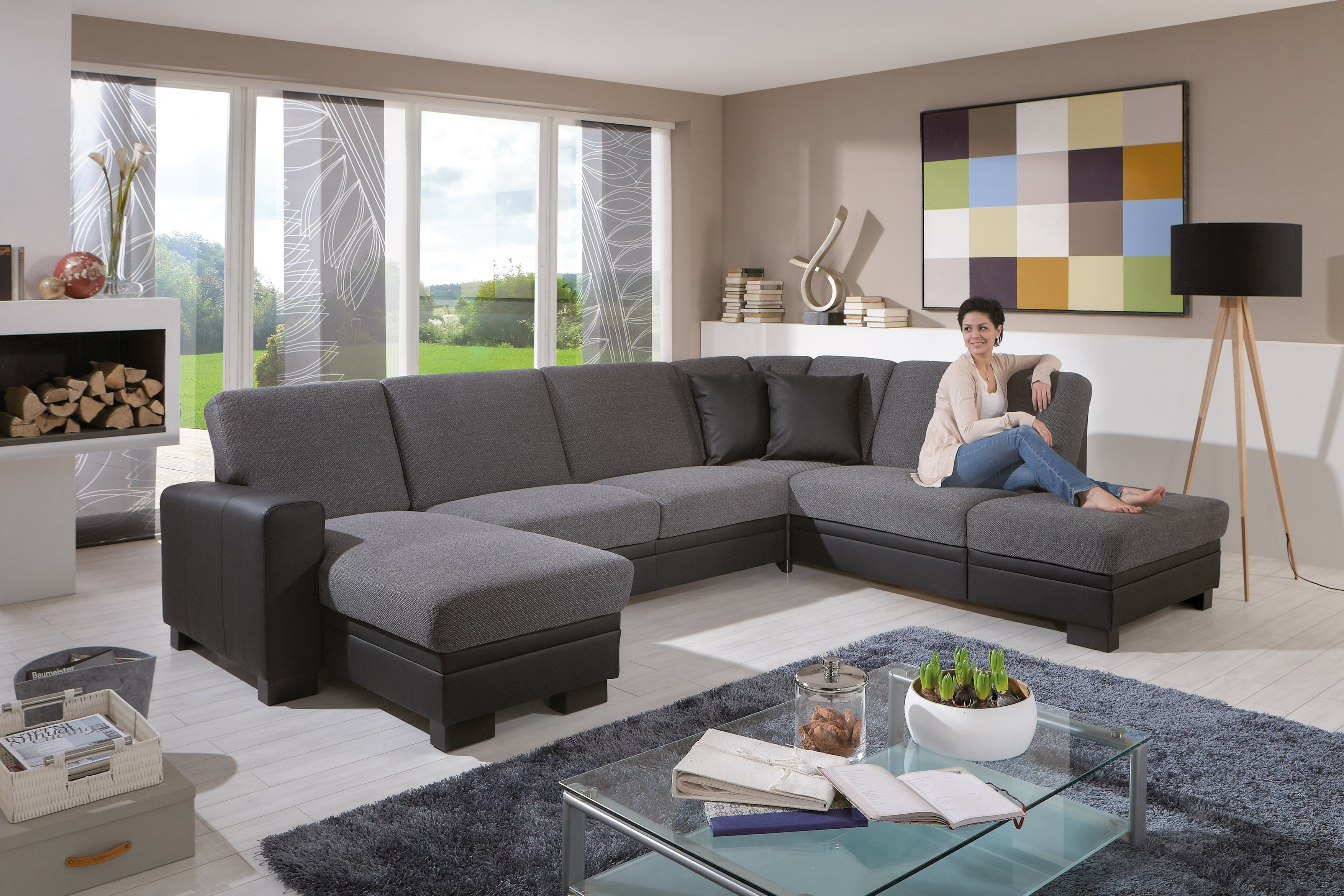 cleveland cincinatti von zehdenick wohnlandschaft grau polsterm bel g nstig online kaufen sofa. Black Bedroom Furniture Sets. Home Design Ideas